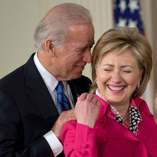 Uncle Joe really doesn't understand personal space.