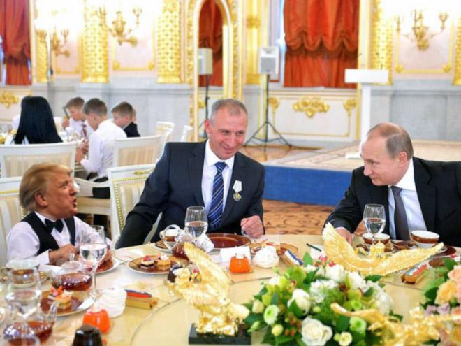 Papa Putin and little Donald.