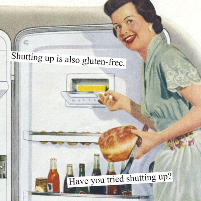 Sarcastic vintage photo parody.
