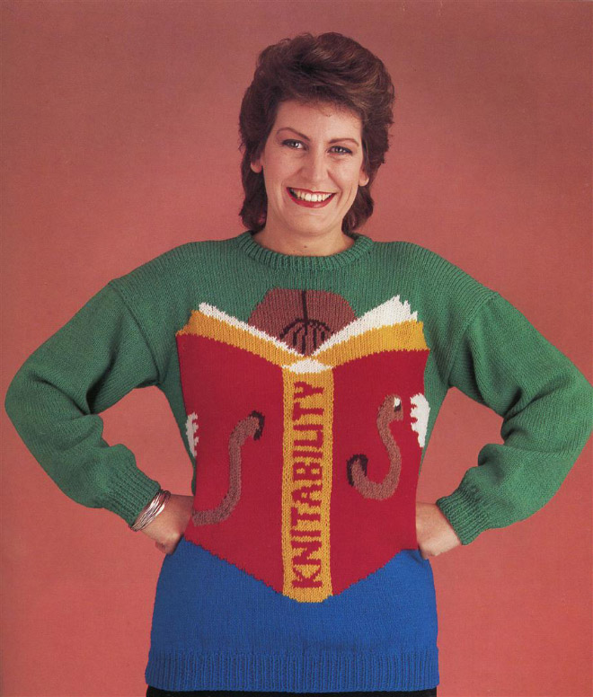 Hilariously ugly 1980s sweater.