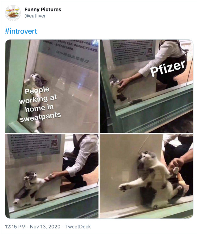 Twitter reacts to Coronavirus vaccine from Pfizer.