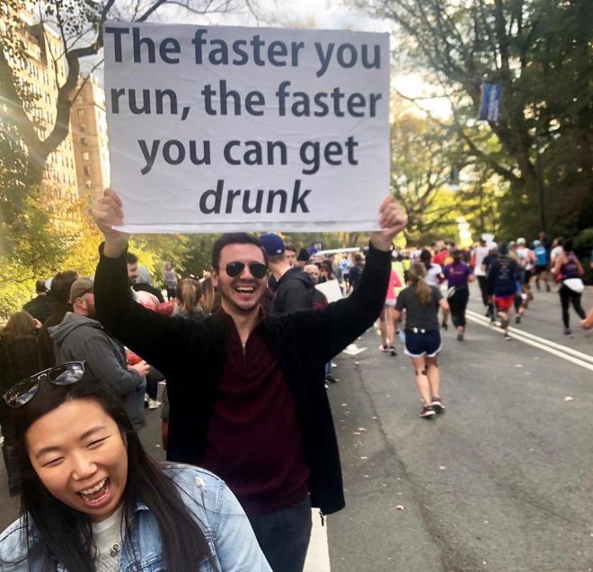 Brilliantly inspiring marathon sign.