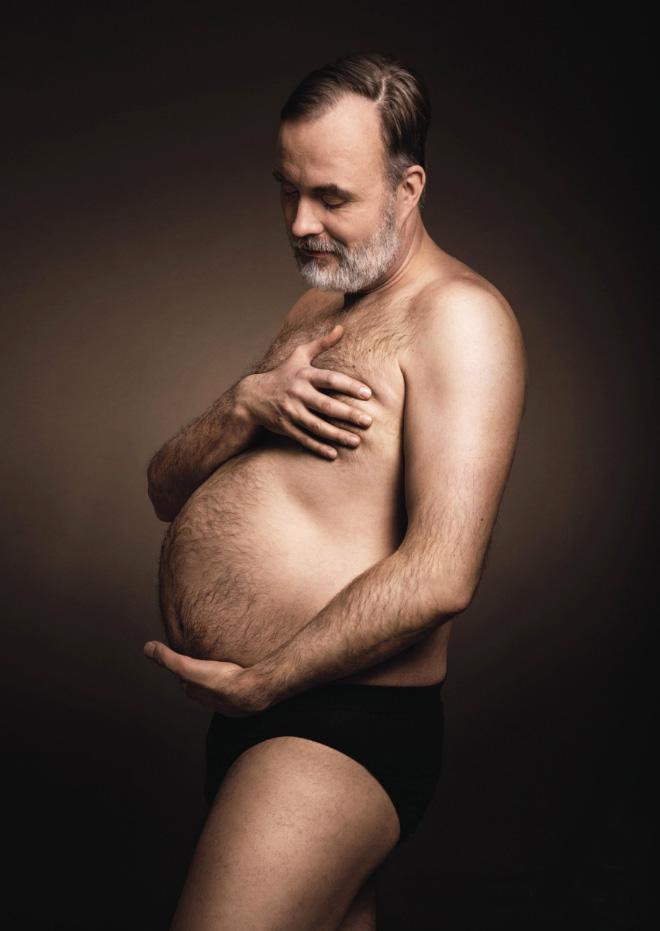 Pregnant father.