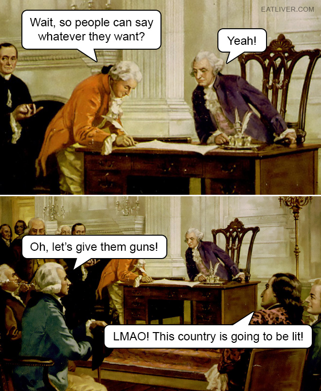 This picture is actually historically true. It really happened like this.