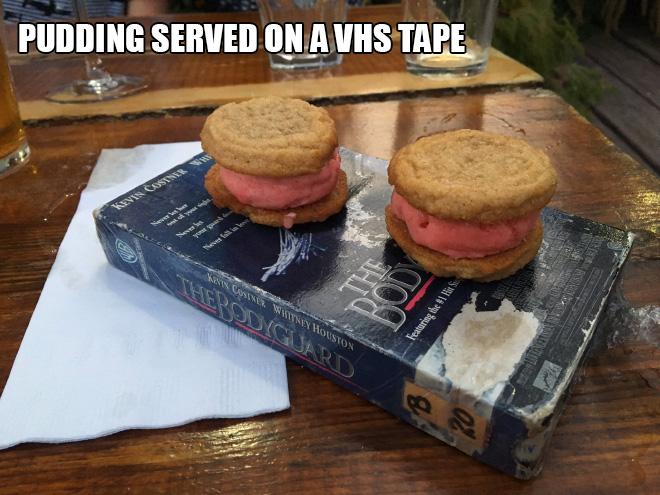 What a weird way to serve food...