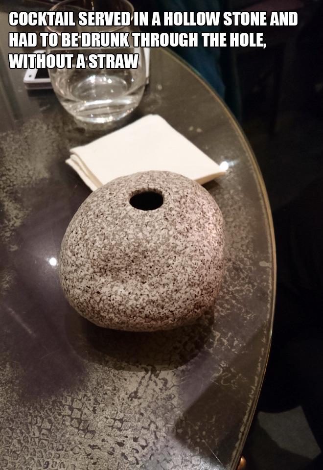 What a weird way to serve drinks...
