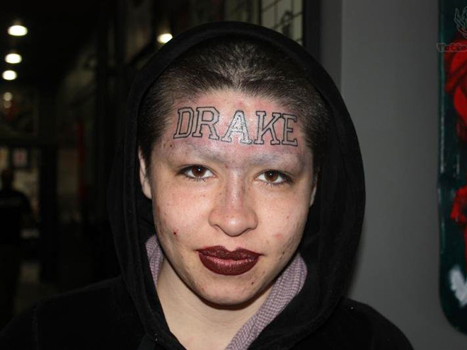 Stupid face tattoos are horrible and hilarious.