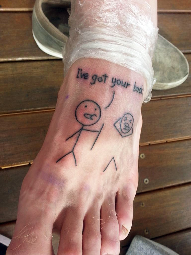 Funny tattoo idea.