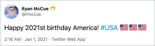 Happy birthday, USA!