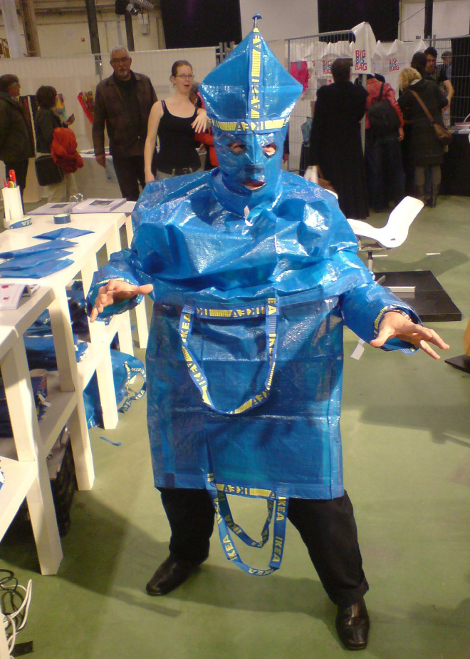 IKEA blue bag fashion.