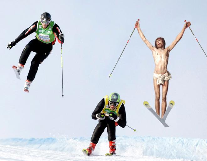 Jesus doing everyday things.
