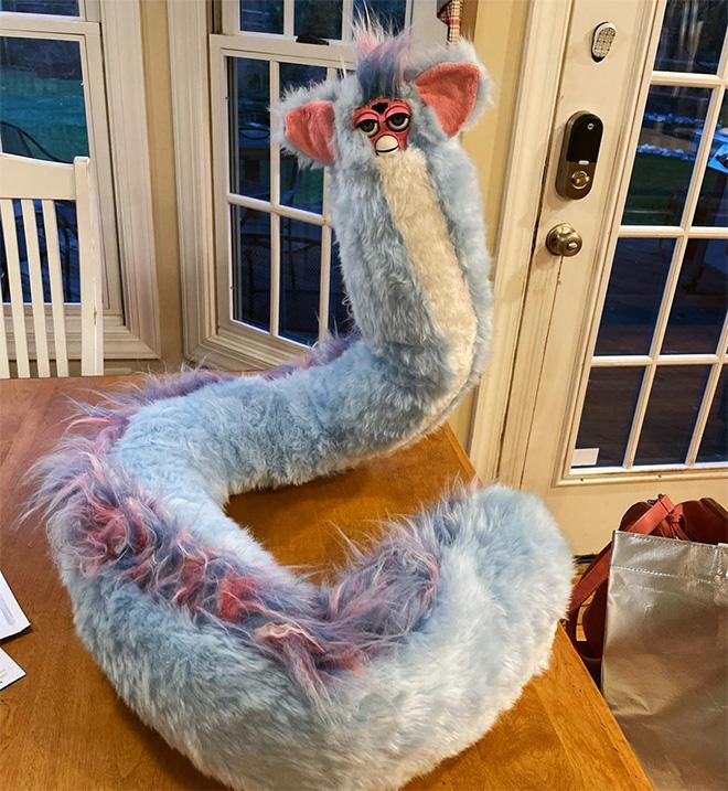 Long Furbies are terrifying.
