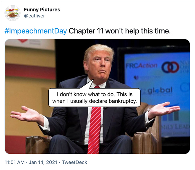 Reaction to Trump's 2nd impeachment.