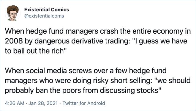 /r/Wallstreetbets vs. GameStop vs. the real Wall Street.