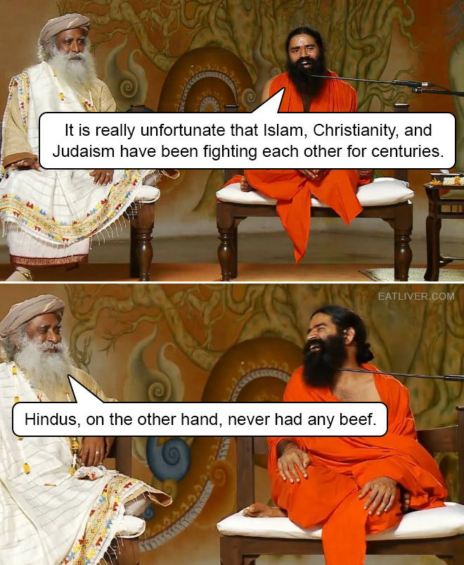 No beef for Hindus.