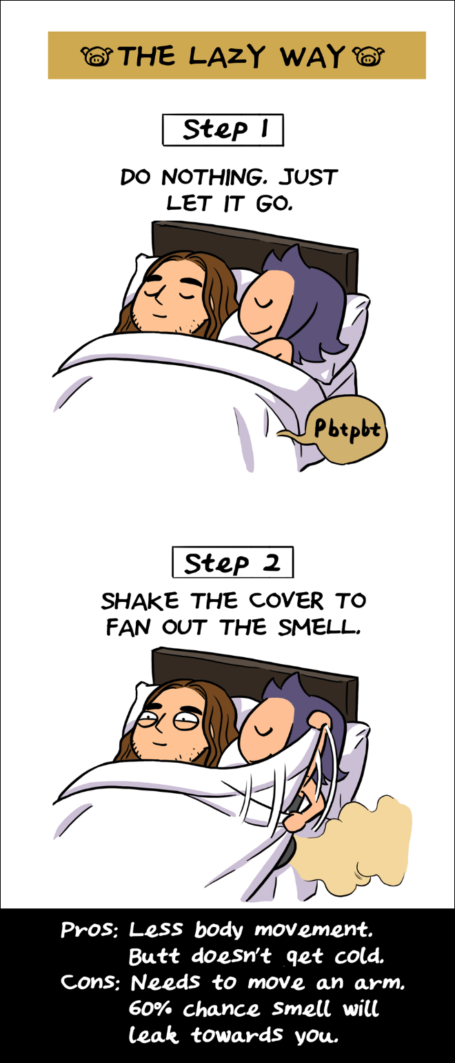 Farting etiquette when in bed with someone.