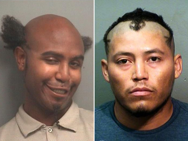 Crazy mugshot haircuts are the best haircuts.