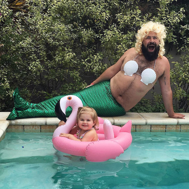 Awesome dad and daughter photo.