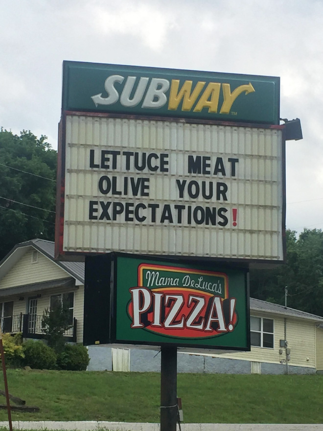 When fast food workers get bored...