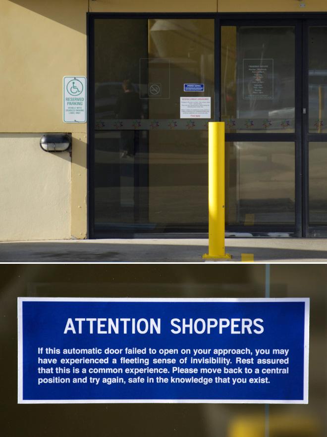 Funny sign by Australian artist Michael Pederson.